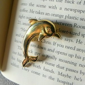4 for $15 Gold Toned Dolphin Brooch